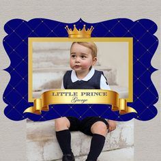 Little Prince Royal Blue photo booth prop by STYLEMEMIAMIASTUDIO