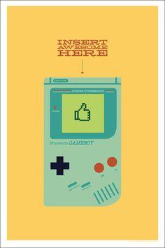 Classic Gameboy art Types Of Video Games, Video Game Art, Geek Culture, Pop Culture, Video Game Characters, Geek Out, Pixel Art, Nerdy, Geek Stuff