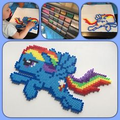 MLP Rainbow Dash hama beads by sofifrid