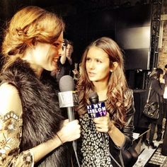 It's a full-on correspondent battle between me and Nina Dobrev and I at DKNY. Cc @NylonMag @cutblog