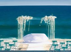 The perfect beach wedding #WeddingCeremony repinned by wedding accessories and gifts specialists http://destinationweddingboutique.com