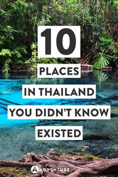 Thaialand Planning to travel to Thailand? Consider adding these stunning places to your trip itinerary. Here are 10 unusual places in Thailand that you probably didn't even know existed! Thailand Vacation, Thailand Travel Guide, Visit Thailand, Asia Travel, Backpacking Thailand, Thailand Honeymoon, Krabi Thailand, Thailand In March, Chiang Mai Thailand