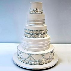 Ron Ben-Israel Cakes This cake's crystal embellishments are not only elegant, they're edible too—they're made from molded sugar.