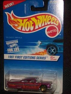 1997 First Editions #5 1959 Chevy Impala Lace Gold Wheels #517 Mint by Hot Wheels. $3.29. A Perfect Addition To Any Hot Wheels Collection!. Fun For All Ages! Serious Collectors And Kids Alike!. Perfect Hot Wheels Diecast for every collector!. Great Investment For Any Hot Wheels Collector.. Diecast Metal Hot Wheels Car Perfect For That Hot Wheels Collector!. 1997 First Editions #5 1959 Chevy Impala Lace Gold Wheels #517 Mint