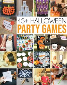The most awesome Halloween party games for all ages - tons of great ideas for adults, for kids, and even for seniors! Whether you're planning an outdoor family Halloween party or a classroom party for school - these are the best of the best Halloween games out there! #halloween #halloweenparty #halloweendecorations #partyideas #partygames #kidsparty #games #kidsactivities