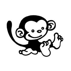 Monkey Die Cut Vinyl Decal PV802 for Windows, Vehicle Windows, Vehicle Body Surfaces or just about any surface that is smooth and clean!