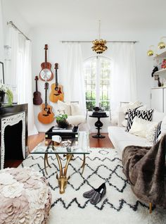 Guitars U0026amp; Brass | At Home With Jessica Marx. Absolutely Love This  Styling.