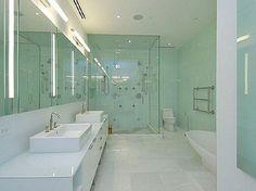 Bathroom With Glass Shower Doors