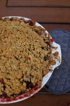 Cherry Pie with crumb topping. The recipe for the GF pie crust alone is worth using - no tearing when I rolled it out and took the parchment paper off! I used white rice flour instead of brown.