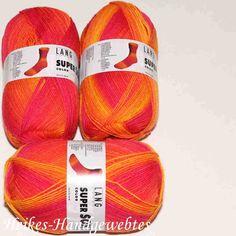 Super Soxx Color Orange-Melone Lang Yarns Sockenwolle a. Polyamid in Orange-Melone f. Lang Yarns, Orange, Pool Slides, Super, Colors