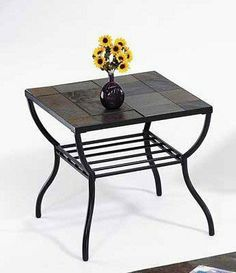 Stone Top End Table By Acme Furniture. $99.00. Some Assembly May Be  Required.