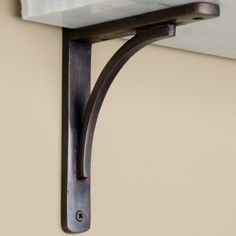 Rustic Brass Shelf Bracket