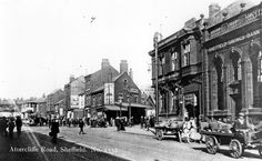 Attercliffe Road - Sheffield Savings Bank, Yorkshire Penny Bank Ltd., junction of Staniforth Road, Thos. Hy. Challoner, green grocer and other poroperties