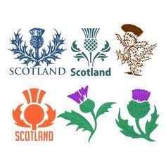 Scottish Thistle Cuttable Design Cut File. Vector, Clipart ...