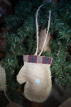 Burlap Rustic Holiday Ornaments Primitive by BurlapBannerBoutique