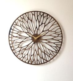 Wandering Laser Cut Wood Clock by Sarah Mimo Clocks on Scoutmob Shoppe