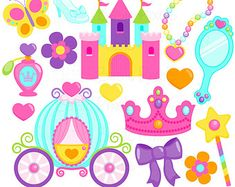 Pretty Princess 2  Set de Clip Art y Papeles Digitales