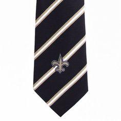 NFL New Orleans Saints Tie Stripe One, Black