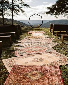 An authentic, beautifully boho and artistic outdoor waterfall wedding with vibrant gypsy charm, DIY decor and vintage styling. Weddings DIY Eclectic Gypsy Waterfall Wedding in Foster Falls USA Wedding Aisles, Wedding Ceremony Decorations, Wedding Centerpieces, Bohemian Wedding Decorations, Wedding Favors, Centerpiece Ideas, Wedding Themes, Wedding Venues, Wedding Invitations