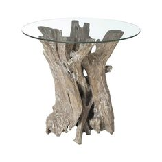 This end table transforms the elegant naturalism of driftwood into a unique piece of furniture. #jossandmain