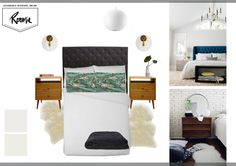 Bedroom makeover: from dark and dated to light and lovely - Homes To Love Veneer Door, Small Wardrobe, Wall Paint Colors, Interior Decorating, Interior Design, Furniture Layout, Wall Treatments, House Painting, Mid-century Modern
