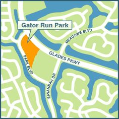 GATOR RUN PARK, 1101 Park Road (adjacent to Gator Run Elementary School)  Hours: 8 a.m. – 9 p.m. Amenities: - 7 acre park - Shaded playground - 3 small picnic shelters - Lighted Walkways - Restroom facilities - Dog Friendly park – dogs allowed on a max.  6' leash #LoveYourHome #WestonFL