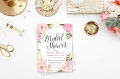 Floral Bridal Shower Invitation  Invitation par blushprintables