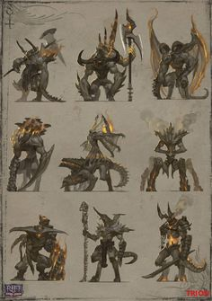 Fire Mob Flamesired Beast thumbnails by openanewworld Rift: Storm Legion creature concept Monster Design, Monster Art, Creature Concept Art, Creature Design, Fantasy Inspiration, Character Design Inspiration, Armadura Ninja, Character Art, Character Concept