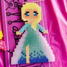 Elsa Frozen perler beads by nerdybeadz