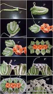 Discover thousands of images about Artesanato com amor.by Lu Guimarães: Tapetes Ovais Crochet Leaf Patterns, Crochet Lace Edging, Crochet Leaves, Crochet Diy, Irish Crochet, Crochet Doilies, Crochet Flowers, Knitting Patterns, Brazilian Embroidery