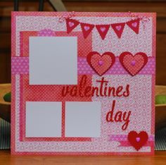 Valentine's scrapbook page by A Page
