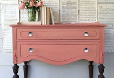 Diy Crafts Ideas : Mini-Buffet painted in Apron Strings from Miss Mustard Seed Milk Paint…