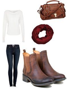 Pour une journée bien au chaud : un jean, un pull blanc, des accessoires et nos TWITY.   Être belle en PLDM, c'est simple !  #outfit #ootd