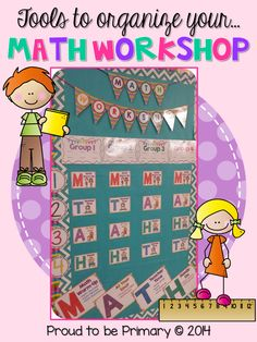 Materials to set up your math workshop board plus editable planning sheets.