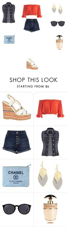 """""""Untitled #3240"""" by smaranda-panfil ❤ liked on Polyvore featuring L'Autre Chose, Sans Souci, River Island, maurices, Chanel, Yves Saint Laurent and Prada"""