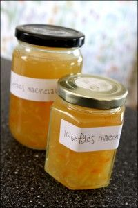 Ingefärsmarmelad Homemade Sweets, Green Garden, Preserves, Cantaloupe, Mason Jars, Candy, Tips, Desserts, Food