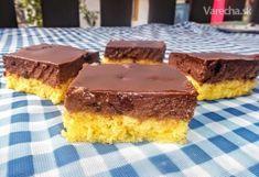 Pri listovaní časopisov som naďabila na tento koláčik, ktorý ma hneď zaujal. Po prvé svojou jednoduchosťou, po druhé, čo je pre moju dcéru dôležité - nejde tam maslo, a za tretie na obrázku vyzeral veľmi pekne a chutne :-) Obrázok nesklamal, je naozaj chutný, ale to už musíte posúdiť vy, milí varecháči :-) Sweets Cake, Food Inspiration, Tiramisu, Baking Recipes, Cheesecake, Food And Drink, Pie, Treats, Cooking