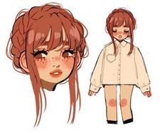 Cute Art Styles, Cartoon Art Styles, Art Drawings Sketches, Cool Drawings, Arte Fashion, Arte Sketchbook, Dibujos Cute, How To Draw Hair, Character Design Inspiration