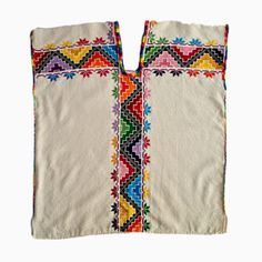 Embroidered Huipil Blouse - Oaxaca, Mexico