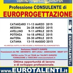 Ultimi posti per il Master in EuroProgettazione In offerta speciale solo € 310 Si svolgerà a CATANZARO 11 MARZO 2015:www.eurotalenti.it