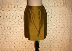 Silk Skirt Midi Skirt Silk Wrap Skirt Olive Green by MagpieandOtis
