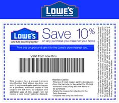 Perfect Lowes Coupon