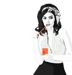FHM Illustrations by Mandy Robinson, via Behance