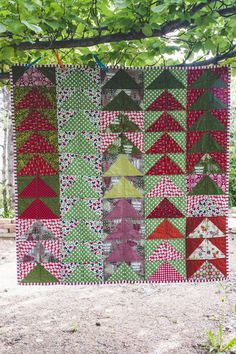 Christmas Flying Geese Quilt by Julie Williams