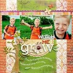 *Watch Me Grow* NEW BasicGrey GREEN AT HEART - Scrapbook.com