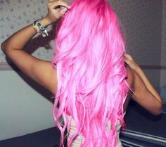 Pink bright hair!