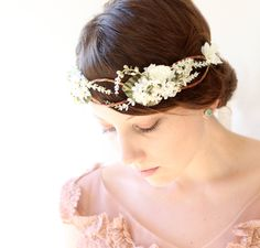 Gorgeous! Flower hair crown, woodland wedding accessory - via Etsy.