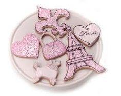 pink Paris cookies