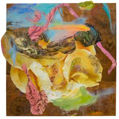 Bonny Leibowitz -   Consider Everything  46x46 photography, encaustic wax, monotype on kozo and pigment on cradled board