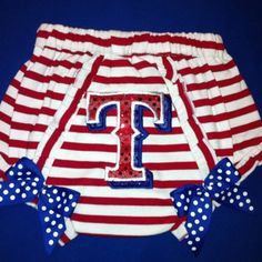 Texas Rangers...love this for the baby! I need something like this for the Mavs too!!!